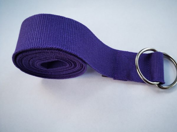 2m Purple Yoga Strap